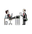 business meeting european men in office vector image