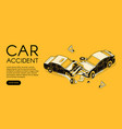 car accident insurance vector image vector image