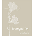 card with stylized magnolia re vector image vector image