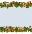 Christmas Border with Gifts vector image vector image