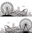 city and amusement park vector image vector image