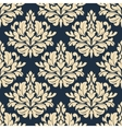 Close up seamless arabesque floral pattern vector image