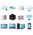 Cloud computing icons vector | Price: 3 Credits (USD $3)