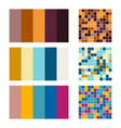 color palette set background harmony color combos vector image vector image
