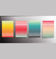 colorful gradient covers minimal design vector image vector image