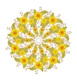 Colorful Mendie Mandala with flowers and leaves vector image vector image