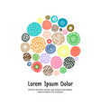 cute greeting card template with dots vector image vector image