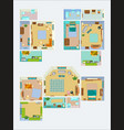 drawings for layout apartment top view vector image vector image