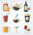drinks in flat style vector image