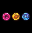 energy balls plasma sphere electric lightning vector image vector image