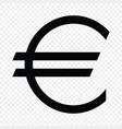 european euro sign vector image