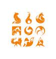 fox orange inspiration logo vector image vector image