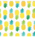 fresh blue yellow green pineapples repeat vector image vector image