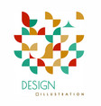 geometric design with shapes in style of vector image vector image