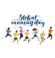global running day flat vector image