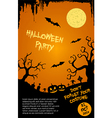 Halloween party flyer template - orange and black vector image vector image