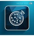 handmade pizza logo concept vector image vector image