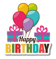 Happy birthday card design vector image