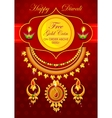 Happy Diwali jewelery promotion background with vector image vector image