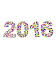 Happy New Year 2016 colorful greeting card made in vector image vector image