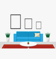 interiors living room front view vector image vector image