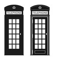 london street phone booth vector image