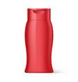plastic bottle shampoo packaging vector image vector image