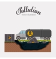pollution concept design vector image