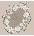 Price Tag beige with floral patterns vector image