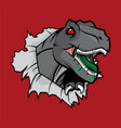 radioactive tyranosaurus rex vector image vector image
