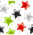 realistic detailed 3d star balloon seamless vector image