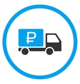Rouble Shipment Icon vector image