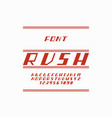 rush font alphabet vector image vector image