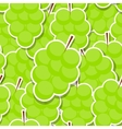 Seamless Pattern Background from Grapes vector image vector image