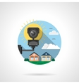 Security cctv color detailed icon vector image vector image