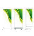 set banner stand display vector image vector image