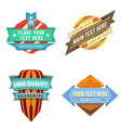 set logo retro ribbon labels and futuris vector image vector image