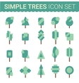 Set of flat tree icon vector image