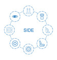 side icons vector image vector image
