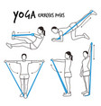 slim girl practicing yoga exercises fitness vector image