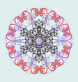 snowflake doodle graphic hand-drawn colorful vector image