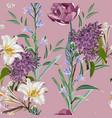 spring bouquets on vintage deep pink backdrop vector image vector image