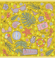 summer seamless pattern with tropical leaves vector image vector image