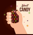 sweet candy card vector image vector image
