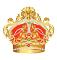 tsarist gold corona with pearl and pattern vector image vector image