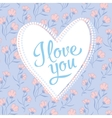 valentine I Love You Lettering stylish text vector image vector image