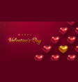 valentines day holiday horizontal banner vector image