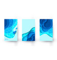 vertical banners with blue paper cut layout vector image vector image