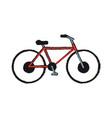 vintage bike isolated vector image