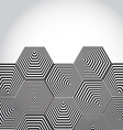 Volumetric 3D pyramid hexagon Optical background vector image